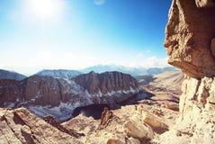 nevada toppig bergskedja Arkivbild