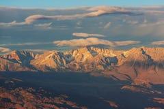 nevada toppig bergskedja arkivfoto