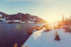 nevada toppig bergskedja Arkivfoton