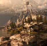 nevada toppig bergskedjasommar Arkivbilder