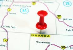 Nevada   USA  map Royalty Free Stock Photo