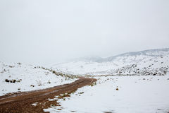 Nevada USA spring snow in the mountains Royalty Free Stock Photo
