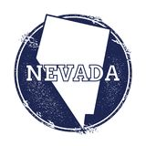 Nevada vector map. Royalty Free Stock Images