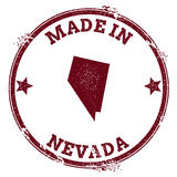 Nevada vector seal. Vintage USA state map stamp. Grunge rubber stamp with Made in Nevada text and USA state map, vector illustration Stock Image
