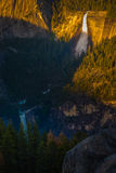 Nevada and Vernal Falls Yosemite National Park from Glacier Poin Royalty Free Stock Photo