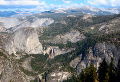 Liberty Cap, Nevada and Vernal Falls Yosemite Stock Photography