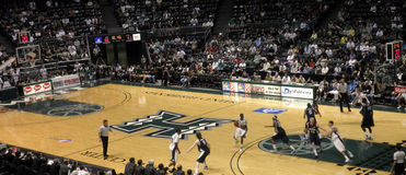 Nevada vs. Hawaii: Player looks to pass royalty free stock photography