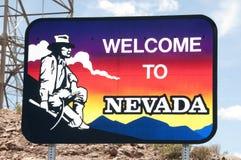 Nevada-willkommenes Zeichen Stockfotografie