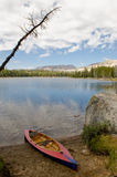 Nevada Wrights lake and canoe Royalty Free Stock Image