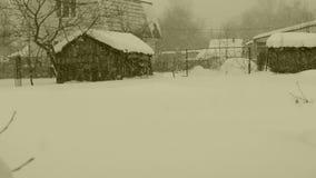 nevadas almacen de metraje de vídeo
