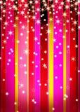 Nevadas bonitas en rayas coloreadas Imagen de archivo libre de regalías