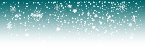 Nevadas pesadas del vector, fondo Copos de nieve blancos que vuelan en el aire Escamas de la nieve ilustración del vector