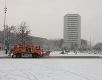 Nevadas pesadas en Ginebra Imagen de archivo libre de regalías