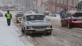 Nevadas pesadas en Rusia el 20 de abril de 2017