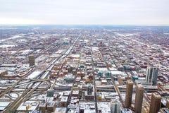 Nevado Chicago fotos de archivo