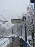 Nevado comute Foto de Stock