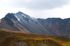 Nevado de Toluca. Mountain on Mexico, vulcano and golden field view Stock Image