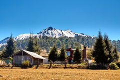 Nevado de toluca Xinantecatl Cabin Royalty Free Stock Photos