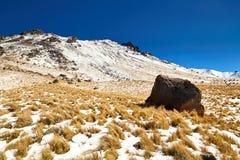 Nevado De Toluca Xinantecatl skała fotografia royalty free