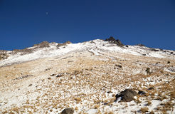 Nevado de toluca Xinantecatl top. Snowy rocks at el Nevado de Toluca Xinantecatl royalty free stock photography