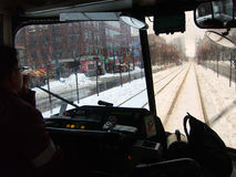 Nevado en comunidad durante tempestad de nieve Imagen de archivo libre de regalías