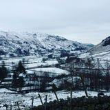 Nevado Inglaterra Foto de archivo libre de regalías