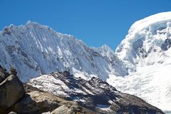 Nevado Ocshapalca Summit. Snow fluting on the side of Ocshapalca Summit (5888m) in the Peruvian Andes Stock Images