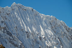 Nevado Ocshapalca Summit. Snow fluting on the side of Ocshapalca Summit (5888m) in the Peruvian Andes Royalty Free Stock Photography