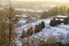Nevado se inclina temprano por la mañana Imagen de archivo