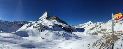 Nevado Suiza imagen de archivo