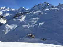 Nevado Suiza imagenes de archivo