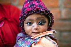 Nevaris女孩,尼泊尔 免版税库存图片