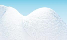 Neve - é delicadamente um fundo azul. Fotos de Stock