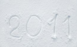 Neve 2011 Fotografia de Stock
