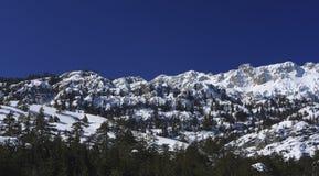 A neve 318 cobriu montanhas em Turquia Fotos de Stock Royalty Free