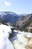 Neve, acqua e montagne Fotografia Stock Libera da Diritti