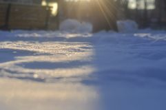 neve al sole al tramonto Fotografia Stock