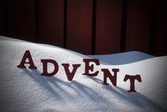 Neve alemão de Advent Means Christmas Time On da palavra Fotos de Stock Royalty Free