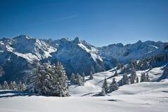 Neve in alpi Fotografie Stock Libere da Diritti