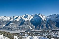 Neve in alpi Fotografia Stock