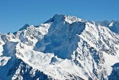Neve in alpi Fotografia Stock Libera da Diritti