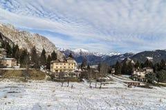 Neve alpina fotografia stock