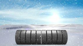 Neve animado com rodas ilustração do vetor