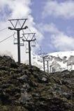 Neve aspettante In qualche luogo in Nuova Zelanda Fotografia Stock
