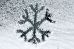 Neve assorbita fiocco di neve Fotografia Stock