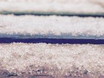 Neve atrasada com pedras de granizo Imagem de Stock Royalty Free