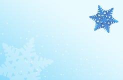 Neve azul Imagens de Stock