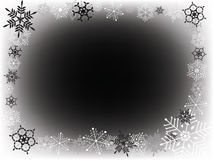 Neve bianca e nera Fotografie Stock Libere da Diritti