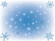 Neve blu Fotografia Stock Libera da Diritti