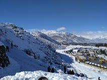 Neve bonita no monte Imagem de Stock